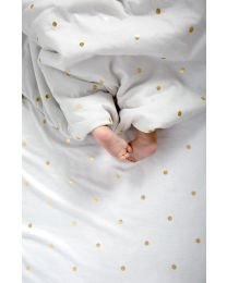 Baby Blanket - 80x100 Cm - Jersey - Gold Dots