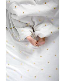 Babydecke - 80x100 Cm - Jersey - Gold Dots