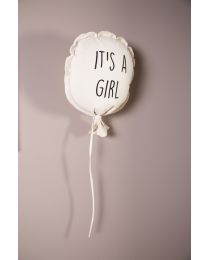 Canvas Balloon - It's A Girl - Wall decoration - 35x26x8 Cm