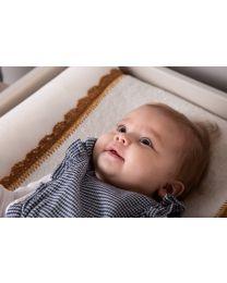 Housse Pour Matelas A Langer - Jersey + Eponge - Crochet Ecru