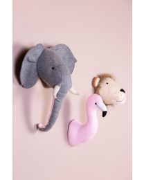Animal Head Flamingo - Felt - Wall decoration