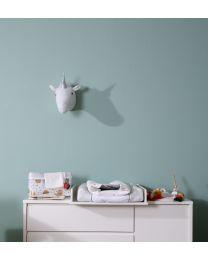 Gants De Toilette Tetra - Coton - Blanc + Pompoms - 4 Pcs