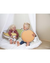 Decorative Cushion - Canvas - Orange
