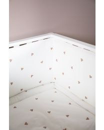 Playpen Protection - 35x340 Cm - Jersey + Muslin - Hearts