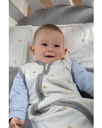 Summer Baby Sleeping Bag - 70-90 Cm - Jersey - Gold Dots
