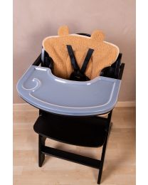 Lambda 3 Baby High Chair + Feeding Tray - Wood - Black