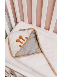 Couverture Enveloppante Universelle - 75x75 Cm - Jersey - Crochet Ecru