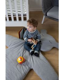 Teddy Playmat Big - 150 Cm - Jersey - Grey