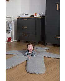 Speelmat Teddybeer - 150 Cm - Jersey - Grijs