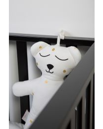 Peluche Ours 40 Cm + Music Box - Jersey - Gold Dots