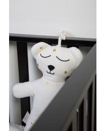 Teddybär 40 Cm + Musikbox - Jersey - Gold Dots