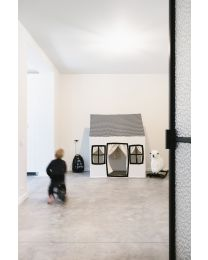 Large Playhouse - 125x95x145 Cm - Cotton Polyester - Black White
