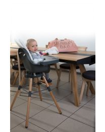 Evolu One.80° Kinderstoel 2 In 1 + Beugel - Hout - Naturel Antraciet