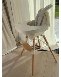 Evolu One.80° Kinderstoel 2 In 1 + Beugel - Hout - Naturel Wit