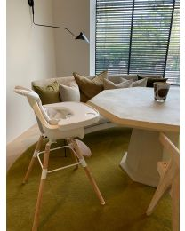 Evolu One.80° High Chair - Adjustable In Height (50-75 Cm/*90 Cm) - Natural White