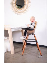 Evolu 2 High Chair - Adjustable In Height (50-75 Cm/*90 Cm) - Dark Natural Frosted