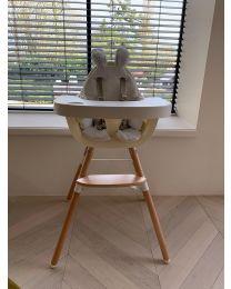 Evolu 2 Kinderstoel - Verstelbaar In Hoogte (50-75 Cm/*90 Cm) - Naturel Wit