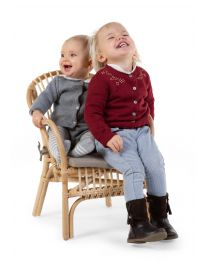 Montana Kid Chair + Cushion - Natural - 40x40x56 Cm