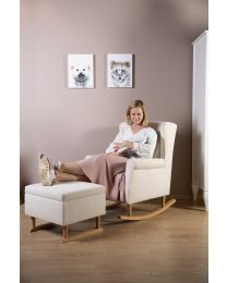 Footrest For Rocking Sofa Chair - Natural Off White