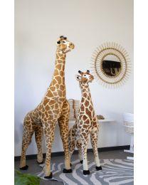 Standing Giraffe Stuffed Animal - 65x35x180 Cm - Brown Yellow
