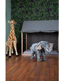 Standing Elephant Stuffed Animal - 70x40x60 Cm - Grey