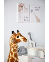 Standing Giraffe Stuffed Animal - 50x40x135 Cm - Brown Yellow