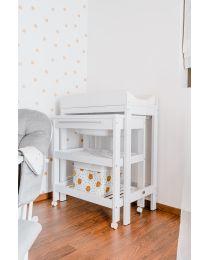 Pflegetisch Für Bad Eimer & Bad (Bad inkl.) - Melaminplatten - Weiß