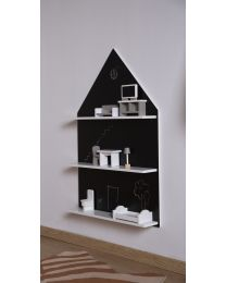 Blackboard House - Wall Shelf - Black