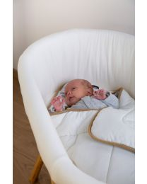 Rattan Cradle Cover - Jersey Off-white