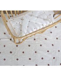 Kinderteppich Punkte - 120x160cm - Altweiss/Rost