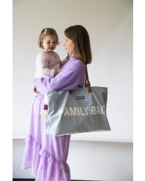 Family Bag Nursery Bag - Light Grey