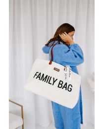 Family Bag Wickeltasche - Teddy Altweiss