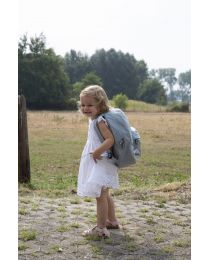 Kids School Backpack ABC - Grey Off White