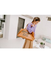 Mommy Bag Nursery Bag - Leatherlook Brown