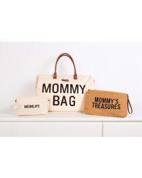 Mommy Bag Nursery Bag - Off White Black