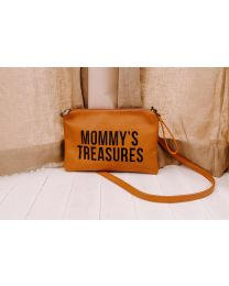 Mommy's Treasures Clutch - Lederlook Braun