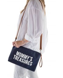 Mommy's Treasures Clutch - Navy Weiß