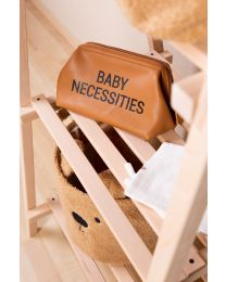 Baby Necessities Toiletry Bag - Leatherlook Brown