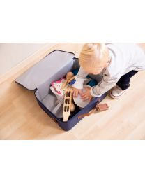 Mini Traveller Kids Suitcase - Navy White