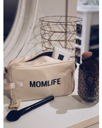 Momlife Toiletry Bag - Off White Black