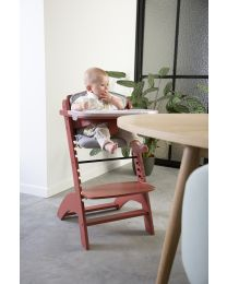 High Chair Seat Cushion - Jersey - Grey