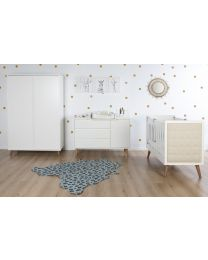 Retro Rio White - Cot Bed - 60x120 Cm
