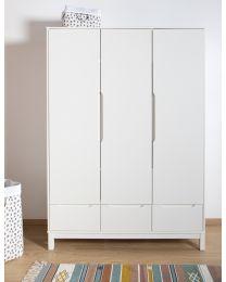 Jota White - Kids Wardrobe - 3 Doors + 3 Drawers
