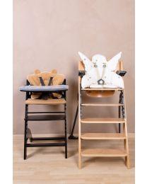 Lambda 3 Baby High Chair + Feeding Tray - Wood - Black