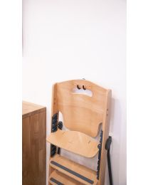 Kitgrow High Chair 4 in 1 - Wood - Natural Anthracite