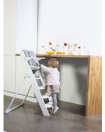 Kitgrow High Chair 4 in 1 - Wood - White