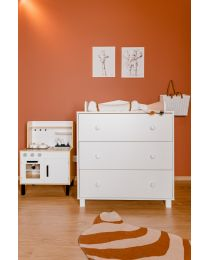 Cabin White - Chest - 3 Drawers + Changing Unit
