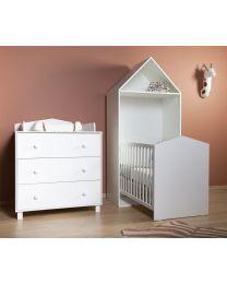 Cabin White - Kinderbett - 70x140 Cm