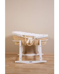 Rocking Stand For Moses Basket - Wood - White