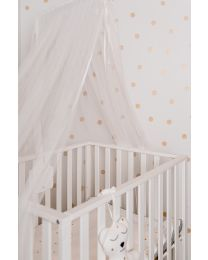 Canopy Holder With Mosquito Net - Wood - White
